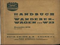 W 23 Bedienhandbuch Ausgabe 1938