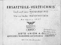 W 23, W 24 Ersatzteile-Liste Ausgabe 1937