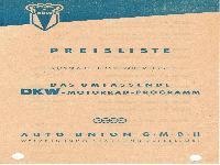 DKW Preisliste November 1953