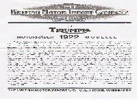 Englische Triumph Motorräder 1922 Modell