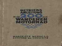 Betriebsanleitung für das 200 ccm Wanderer Motorrad