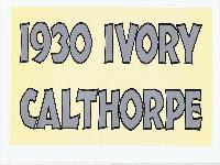 1930 Ivory Calthorpe