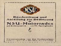 Beschreibung und Anleitung zur Bedienung des NSU-Motorrades