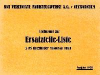 NSU - Ergänzung zur Ersatzteil-Liste 2 PS Einzylinder Motorrad 1923