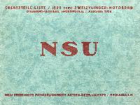 NSU Ersatzteil-Liste 500 ccm