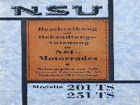 NSU Beschreibung und Behandlungs-Anleitung des NSU-Motorrades