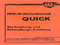 NSU - D - Motorfahrrad Quick