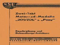 """Zwei-Takt Motorrad-Modelle """"201/ZDL"""" und """"Pony"""""""