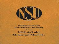 NSU - Beschreibungs und Behandlungsanleitung