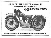 NSU Ersatzteil-Liste 501/601 TS