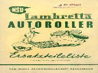 NSU Lambretta Autoroller Ersatzteilliste