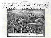 NSU - Neues Straßenplakat für Motorräder und Motorwagen