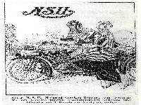 NSU Motorrad-Anzeigen-Entwurf