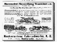 NSU - Automobil-Ausstellung-Frankfurt