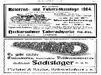 NSU - Werbung - Katalog 1904