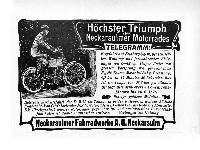 Höchster Triumph des NSU Motorrades- Telegramm
