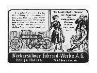 NSU - Das betriebssicherste Motorrad der Gegenwart.