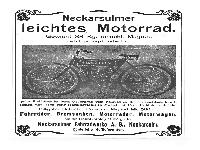 NSU - Leichtes Motorrad