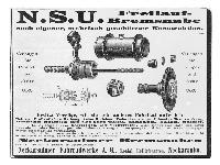 NSU Freilauf-Bremsnabe