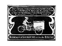 NSU - Erste Spezialfirma für Motor-Gepäckdreiräder.