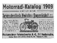 NSU - Motorrad-Katalog 1909