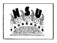 NSU - Fahrräder 1924