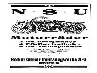 NSU - Motorräder 1924