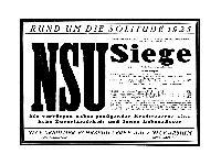 NSU - Siege - Solitude 1925
