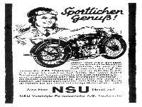 NSU - Sportlicher Genuß!
