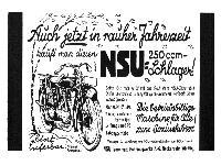 NSU 250 ccm Schlager!