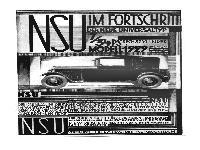 NSU - 7/34 PS Sechszylinder Modell 1929