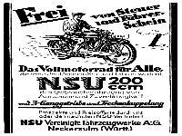 NSU - Das Vollmotorrad für Alle!
