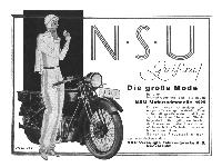 NSU - Motorradmodelle 1929