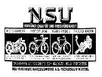 NSU - Verbürgt Qualität und Preiswürdigkeit
