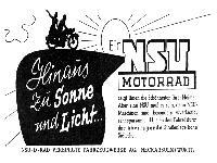 Ein NSU Motorrad