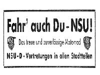 Fahr auch Du - NSU!