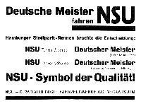Deutsche Meister fahren NSU