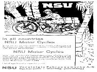 In all countries NSU Motor Cycles