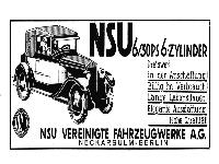 NSU 6/30 PS Sechszylinder