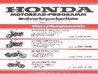 Honda Motorrad-Programm 1978