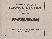 SCHEBLER Motorcycle Service Station Manual 1928