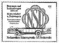 NSU - Personen- und Lastkraftwagen & Motorräder