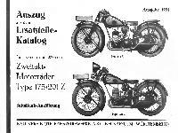Ersatzteil-Katalog NSU Type 175/201 Z