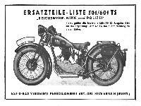 NSU Ersatzteile-Liste 501/601 TS