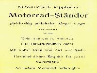 NSU Motorrad Ständer