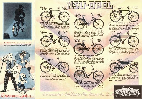 Nsu Opel Fahrrad Prospekte Nsu Nsu Fahrräder