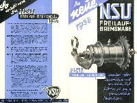 NSU Freilauf-Bremsnabe 1936