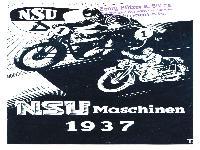 NSU Maschinen 1937