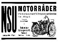 NSU Werbung 1923