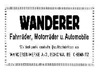 Wanderer Werbung 1923